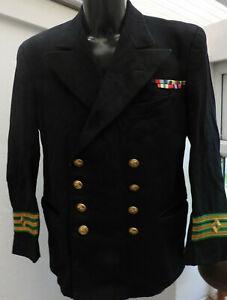 Military WW2 Royal Navy Merchant Navy Tunic Officers Uniform Naval (5478)