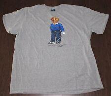 vtg 90s POLO BEAR Golf Sweater T-Shirt Men's 2XL XXL Gray SS Ralph Lauren Cotton
