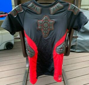 G-Form Pro-X Short Sleeve Armored Compression Shirt Mens Large Red/Black NWT