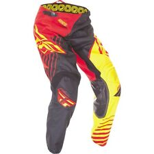 Men's motocross pants FLY KINETIC VECTOR size 28S, red/blk/yel  369-52328S