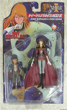 Queen Emeraldas & Umino Hirashi action figures Leiji Captain Harlock Anime
