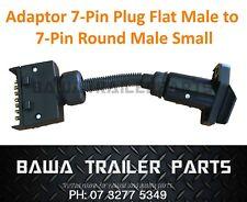 ADAPTOR PLUG 7 PIN ROUND MALE PLUG TO 7 PIN FLAT MALE PLUG - Trailer Parts !