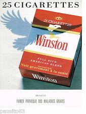 PUBLICITE ADVERTISING 065  1992  WINSTON   cigarettes par 25