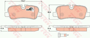 LAND ROVER DISCOVERY Mk4 Brake Pads Set Rear 3.0 3.0D 2009 on