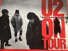 U2 On Tour 1983 Poster Rare Promo