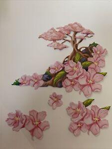 Stephanie Weightman 3 DIE CUT SETS Fallen Blossom Cherry Card TOPPER DECOUPAGE