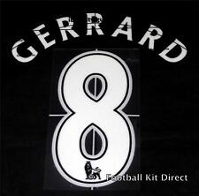Liverpool Gerrard 8 Football Shirt Name/Number Set Child/Youth Printing
