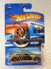 FTE 2006 HOT WHEELS First Editions GREY AMG - MERCEDES CLK DTM #16 w/ SIDE TAMPO