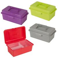 Small Tool Box Hobby Storage Case Box With Removable Tray Carry Handle Organiser
