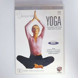 Aussie Fit Yoga Postures DVD Region 4 PAL Free Postage - Fitness Health Exercise