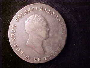 POLAND 5 LOTY 1817 IB RARE TYPE, FIRST I HAVE SEEN