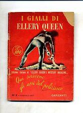 I GIALLI DI ELLERY QUEEN N.2 Febbraio 1950 # Garzanti - Edizione italiana
