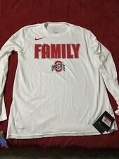 Ohio State Buckeyes Nike Family  LS White March Madness Shirt Size Large