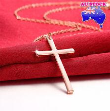 Classic Wholesale 18K Rose Gold Filled Cross Pendant Necklace Pendant