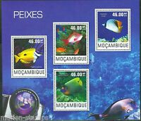 MOZAMBIQUE  2014  FISHES  SHEET   MINT NH