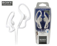 Genuine Sony MDR-AS200 Active Sports Stereo Headphones Headsets Earbuds White