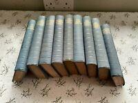 Vintage Antique Blue Hardback Books x 9 Lifestyle Education Factural 1939