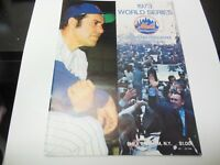 1973 WORLD SERIES PROGRAM A'S vs METS WITH RARE GAME TICKET MLB BASEBALL