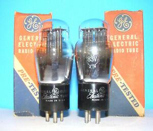 Type 83V GE NOS radio audio rectifier vacuum tubes 2 valves tested ST shape 83