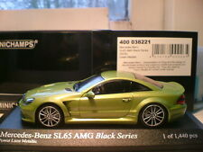 EXTREMELY RARE MINICHAMPS 1/43 2009 MERCEDES SL65 AMG BLACK SERIES SUPERB NLA