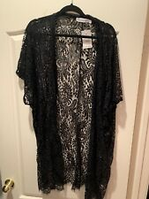 Hanger 221 Oversized Black Lace Kimono Long Size L