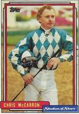 1992 TOPPS STADIUM OF  STARS BASEBALL RARE PROMO horse racing CHRIS MCCARON