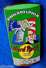 PHILADELPHIA PINT GLASS SERIES #71 LIBERTY BELL BEN FRANKLIN Hard Rock Cafe PIN