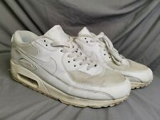 New listing Mens Nike Air Max 90 Essential Trainers In Triple White in Size 10 UK