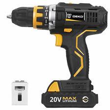 20V Cordless Drill/Driver Pro 1/2-inch Chuck 2-Speed Max Torque 42N.m