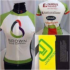 Jakroo Cycling Jersey Medium Womens Brown Shoe Company Back Pockets NWT D611 M4U