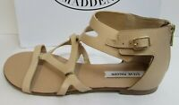 Steve Madden Size 10 Beige Flats Sandals New Womens Shoes