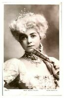 Antique RPPC postcard Miss Vesta Tilley actress music hall stage theatre