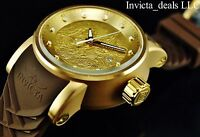 Invicta Men's S1 Yakuza Dragon 18K Gold IP Automatic NH35A SS Brown Strap Watch