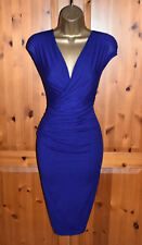 Immaculate PHASE EIGHT Blue Ivory Cocktail Party Dress UK 16  Wedding Occasion