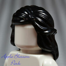 NEW Lego Female Minifig Long BLACK HAIR - Braided Castle Princess Girl Head Gear