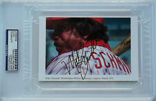 MIKE SCHMIDT Signed Rare Iooss Photo Slabbed Philadelphia Phillies HOF PSA/DNA