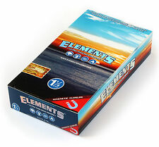 1 box ELEMENTS 1 1/4 Size ULTRA THIN RICE rolling paper with MAGNETIC CLOSURE