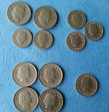 Switzerland Coins 1903 37 39  1927 1944 1951 and 1959 B Rare Lot of 12 Rappen