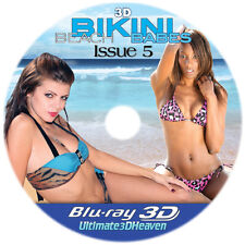 3D Bikini Beach Babes Issue #5 Blu-Ray 3D NICE! 3-D Bluray Movie for 3-D Glasses