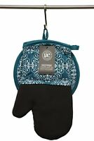 Gourmet Club Oven Mitt & Potholder Set w/Neoprene, Lace Biscay Bay