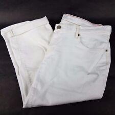 Eddie Bauer Boyfriend Crop Capri Pants Size Petite 12 Denim White MSRP $60