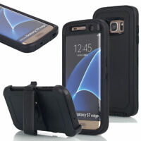For Samsung Galaxy S7 Case Cover with Screen w(Belt Clip Fits