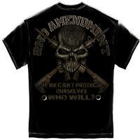 2nd Amendment Gun Rifle Skull Military Army USA America NRA Mens Shirt RN2259