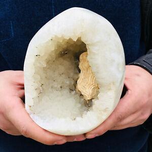 Rare Natural Agate Geode Quartz Crystal Wand Point Specimen Healing 1388G
