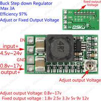 DC Buck Step down Adjustable Voltage Regulator Module 5v~24v to 1.8v 3.3v 12v 2A