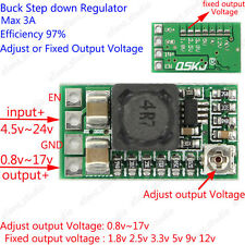 Mini DC Buck Step down Adjustable Voltage Regulator Module 5v~24v to 1.8v 12v 2A