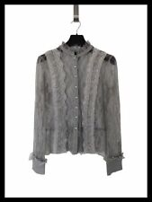 Long Sleeve Button Down Shirt Solid Petite Tops & Blouses for Women