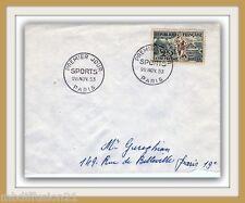 1953 - LETTRE 1° JOUR - SPORTS - ATHLETISME - OBL.PARIS - 25F - TIMBRE.Yv.0961