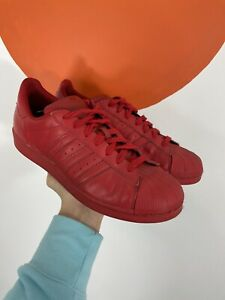 Adidas x Pharrell Williams Supercolor Superstar Shell Toes Trainers Red UK 10