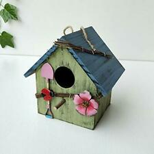 Wooden Bird Houses For Outside Hanging Wood Handpainted Bird House With Flower